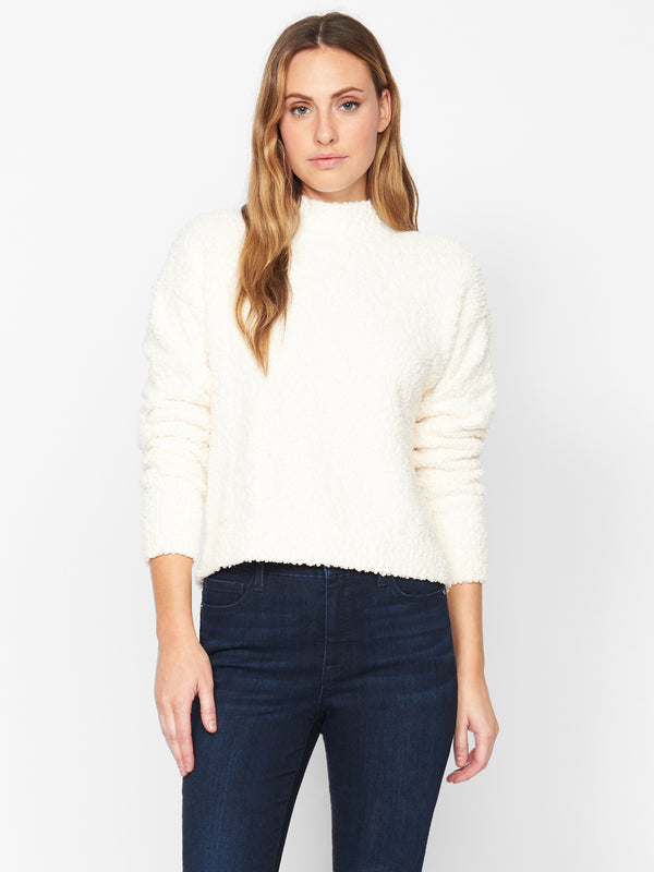 Teddy Mock Sweater Milk