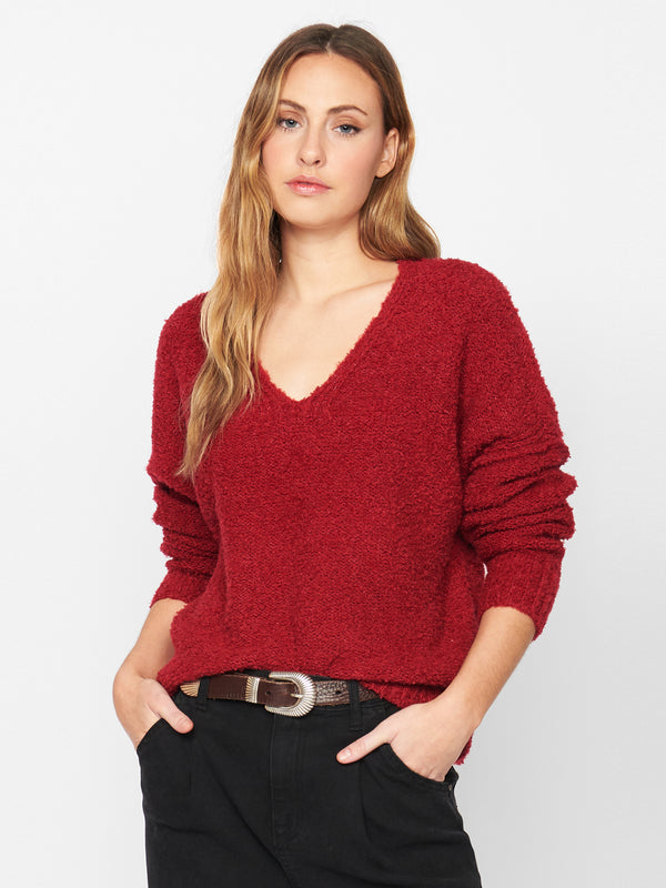 Ultra Cozy Sweater Tartan Red