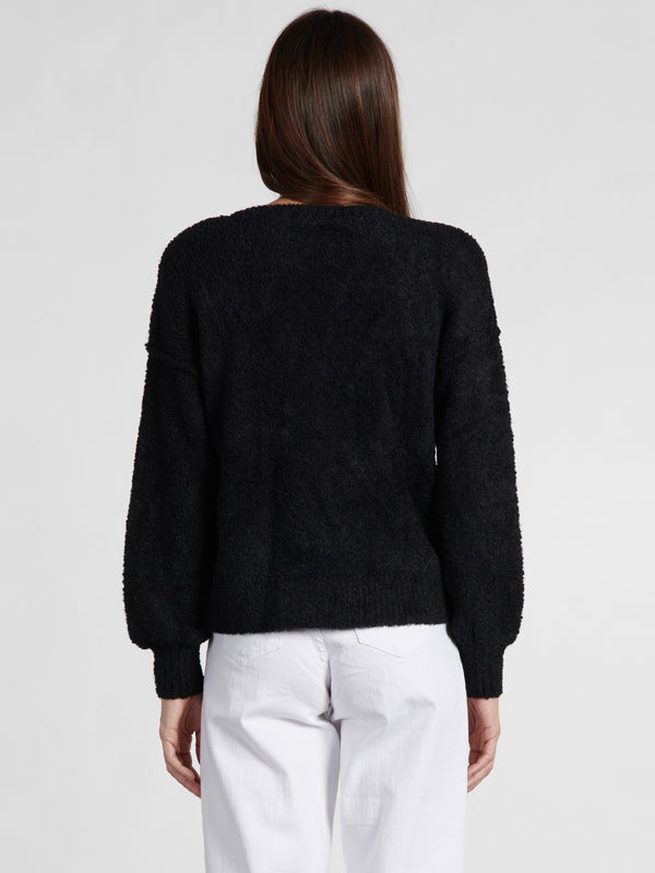 V-Neck Cozy Sweater Black