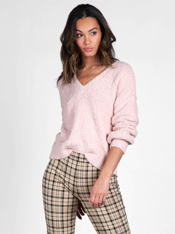 V-Neck Cozy Sweater Pearl