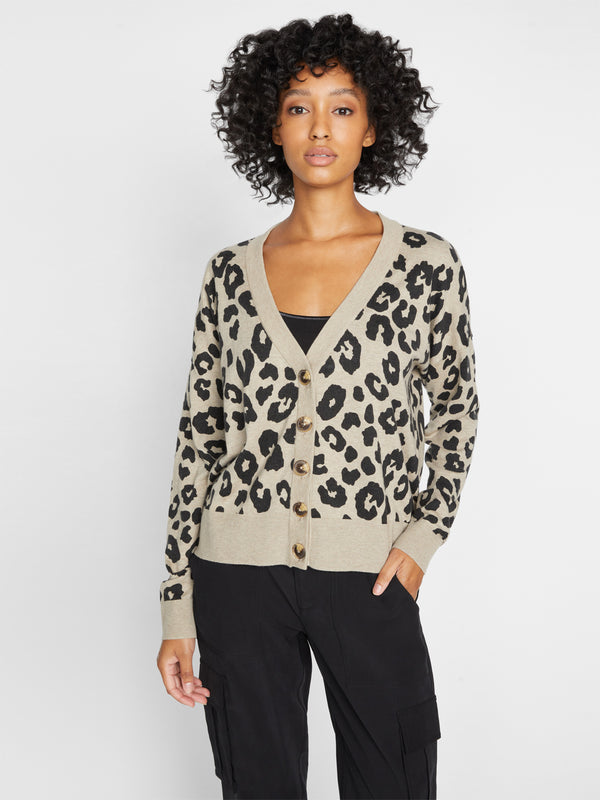 Let's Hang Cardi Dark Exploded Spots