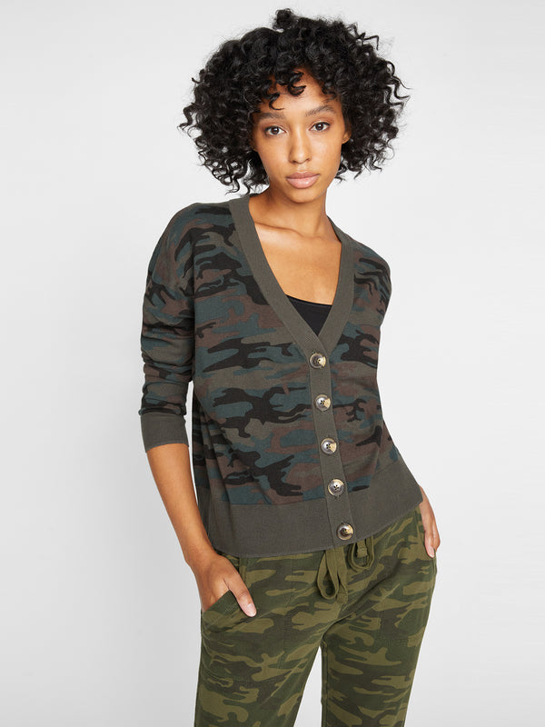 Let's Hang Cardi Forest Camo - Sweater