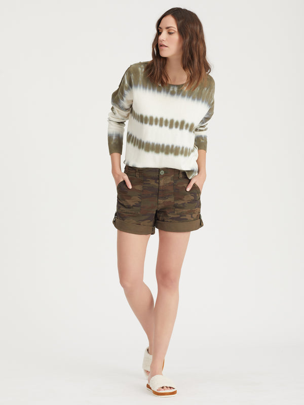 Sunsetter Tie Dye Sweater Organic Green Tie Dye - Sweater