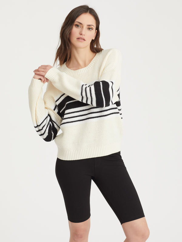 Montauk Sweater Eco Natural Stripe - Eco Natural Stripe /