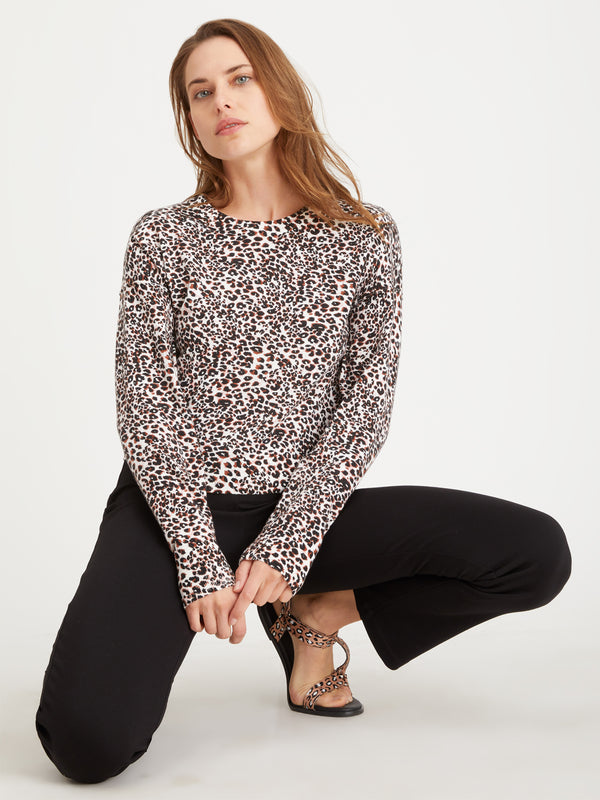 Getaway Sweater Air Leopard Lotus - Air Leopard Lotus / XXS