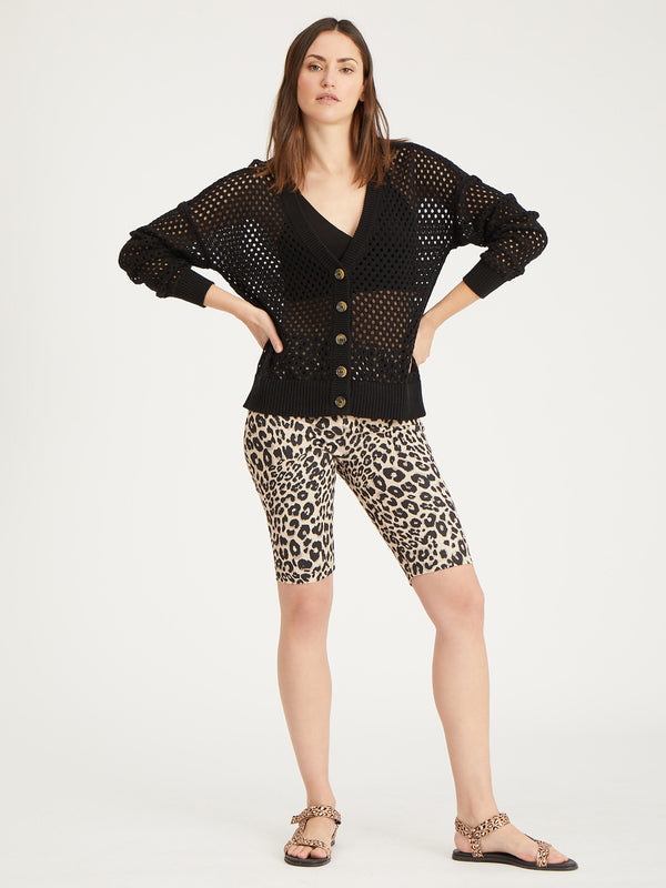 Open To It Cardi Black - Sweater