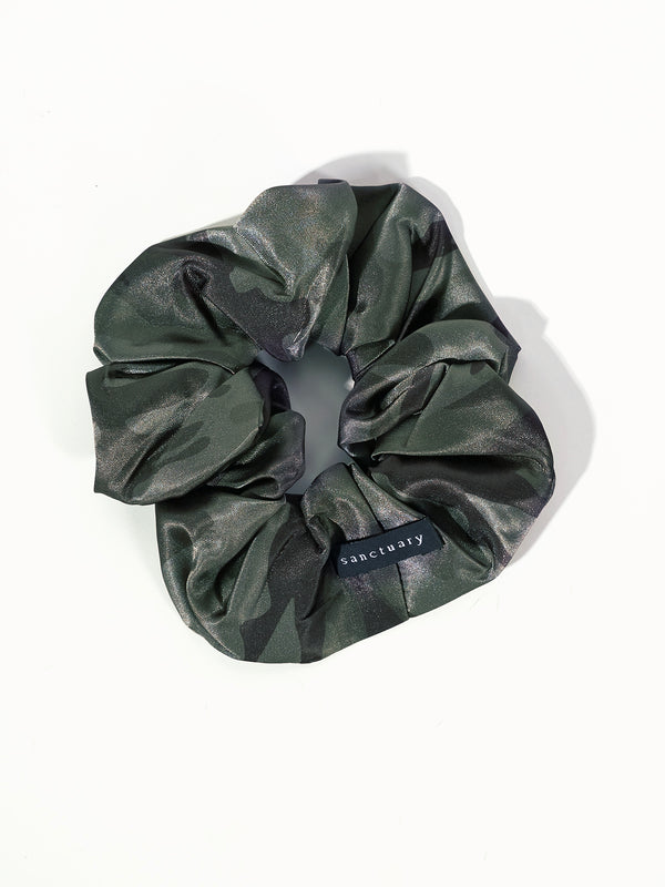 Large Satin Scrunchie - Heritage Camo / O/S - Accessories