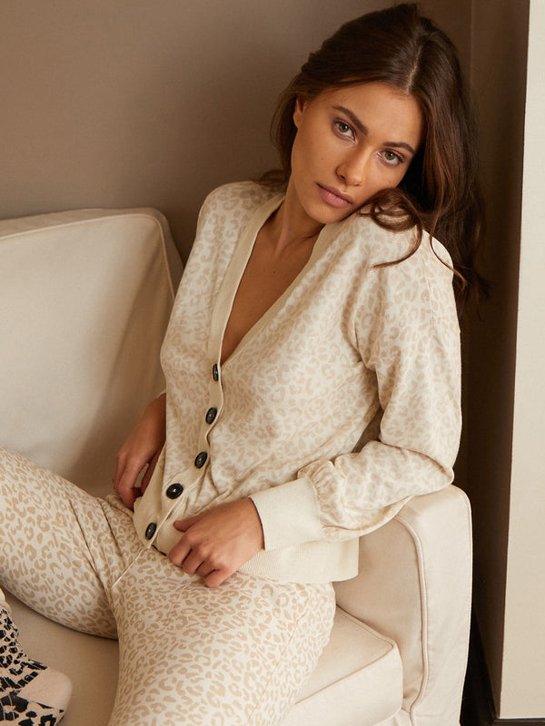 Barely Leopard Cardi - Barely Leopard / XXS - Sweater
