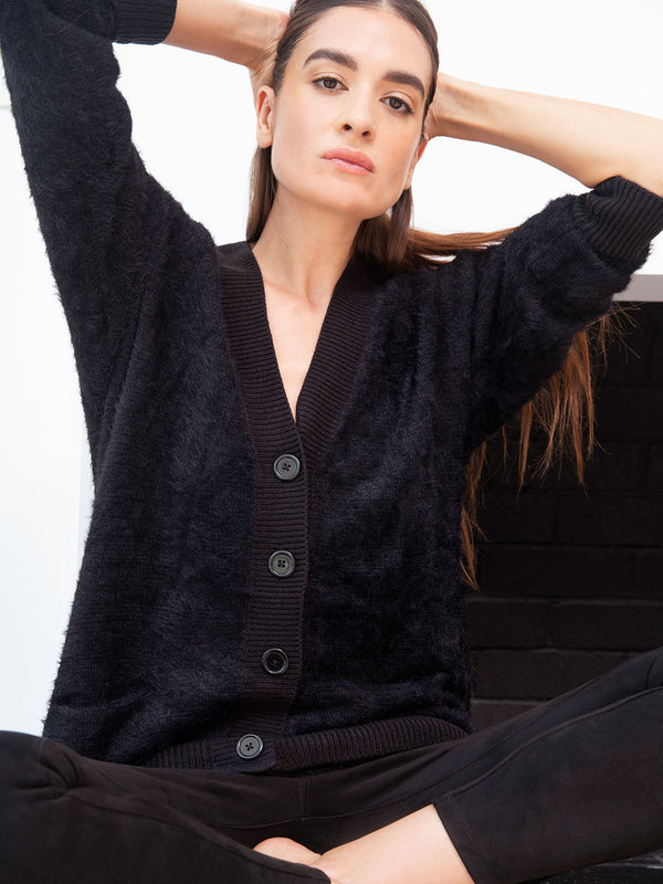 Super Soft Social Cardi Black