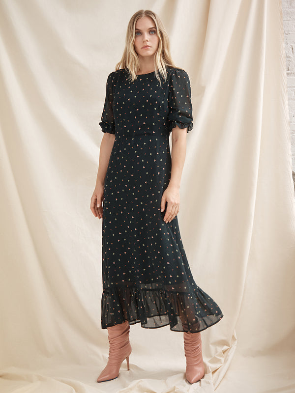 Courtney Modest Midi Dress Perennial Night