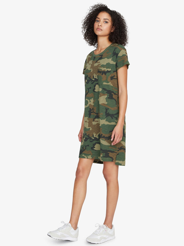 One Pocket T-Shirt Dress Love Camo