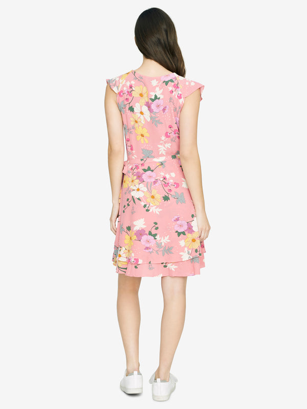 Johanna Wrap Dress Garden Girl