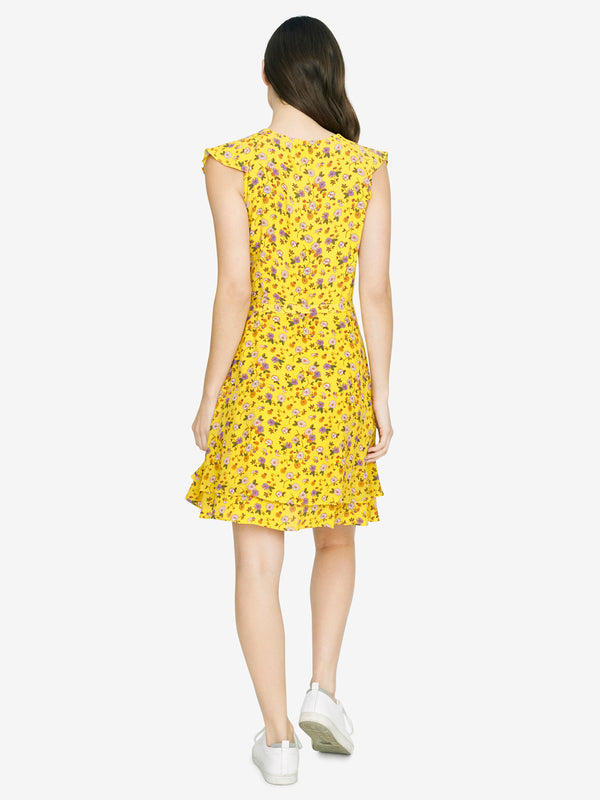Johanna Wrap Dress Dandelion Daisy