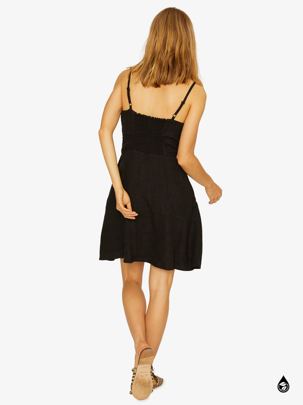 Take Away Tie Dress Black