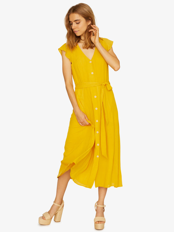 Eden Button Front Dress Desert Marigold