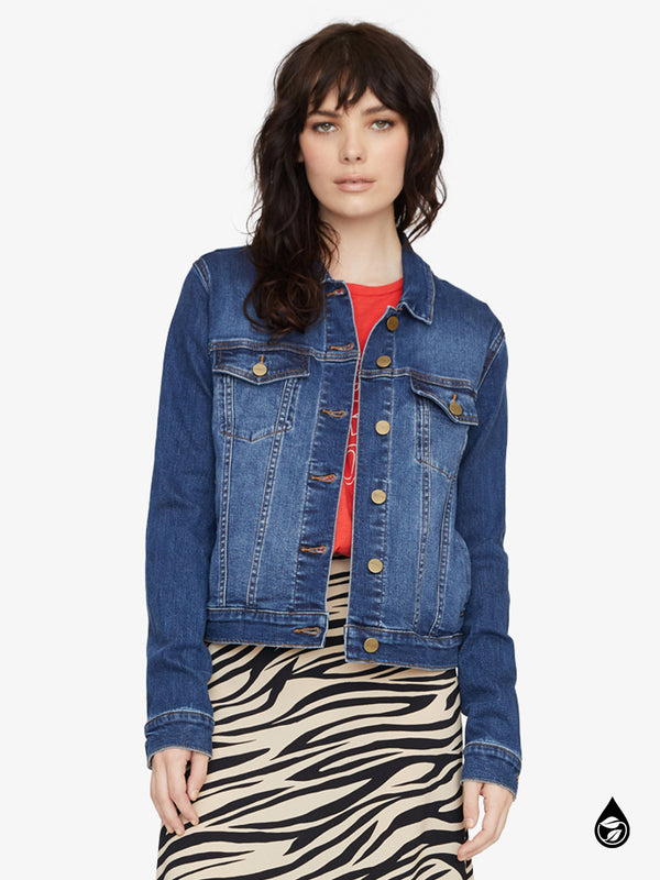Kyle Cropped Denim Jacket Hillside