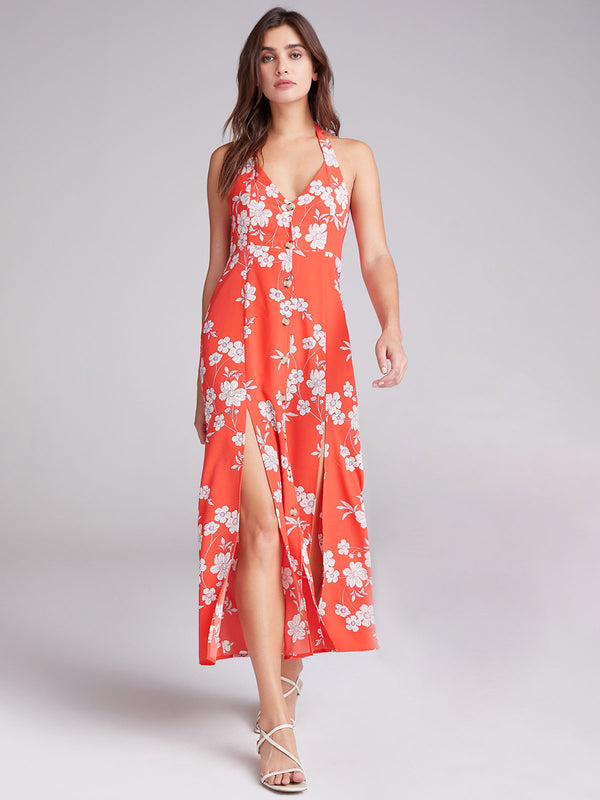 Garden Halter Maxi Dress Not Bashful