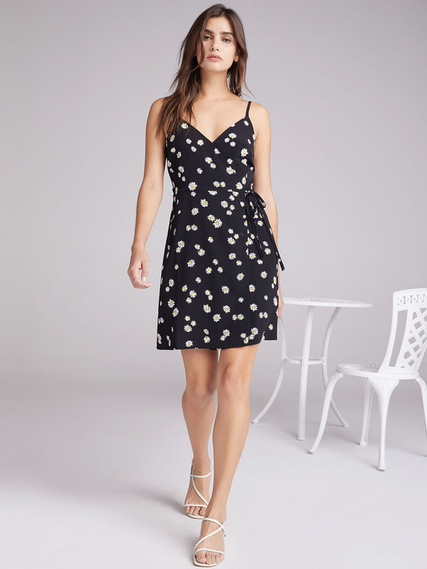 Wrap It Up Tank Dress Black Daisy Chain