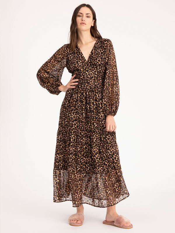 So Long Maxi Dress Tortoise Spots