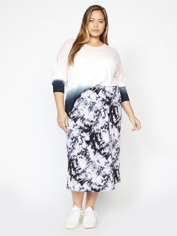 Everyday Midi Skirt Dark Tie Dye Inclusive Collection
