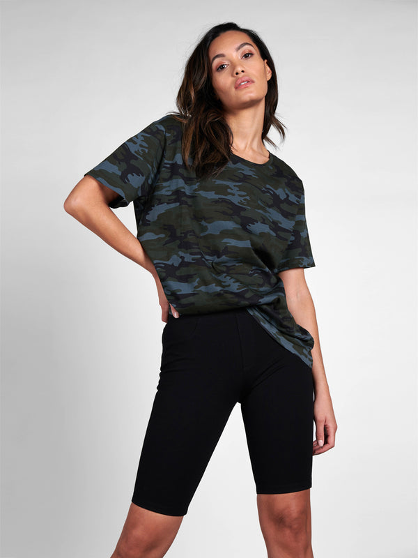 Boyfriend Tee Earth Camo - Earth Camo / OS - Knit Top