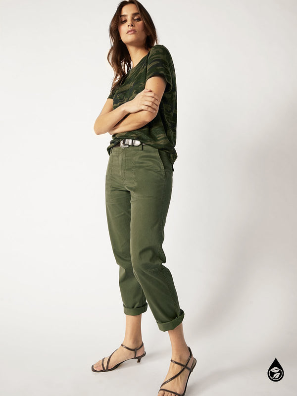 Formation Crop Pant Light Aged Green