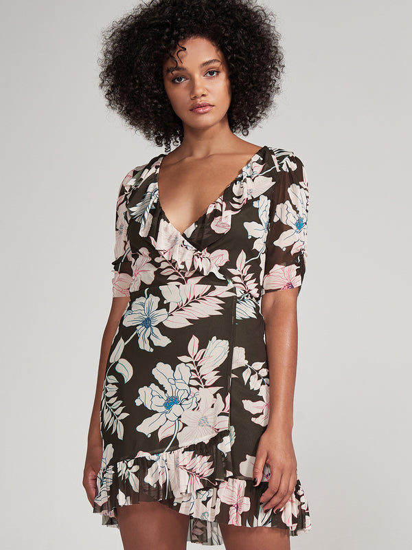Foxy Lady Wrap Dress Tropic Punch