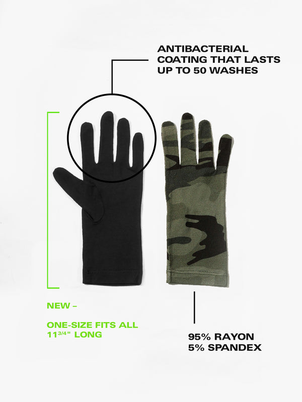 New 2 Pack Antibacterial Fashion PPE Gloves Heritage Camo -