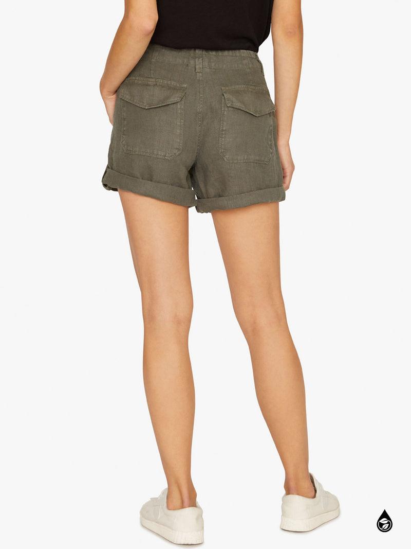 Explorer Patch Pocket Short Washed Peace Green