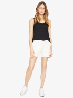 Meadow Raw Hem Short Natural White