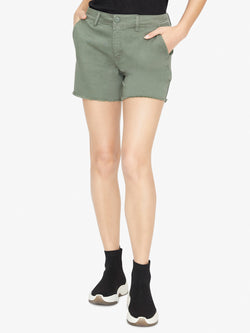 Meadow Raw Hem Short Washed Peace Green