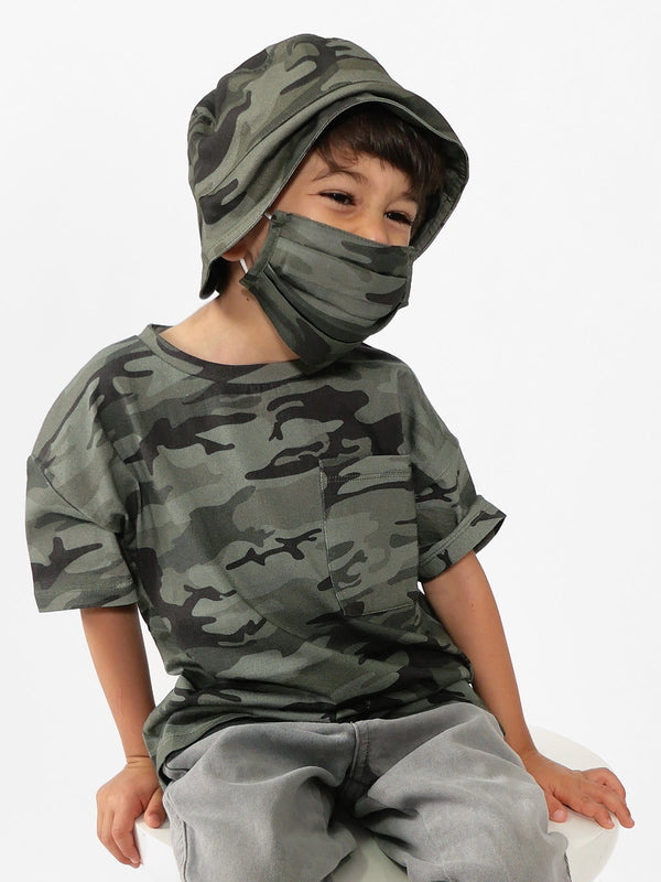 Kids Bucket Hat Heritage Camo