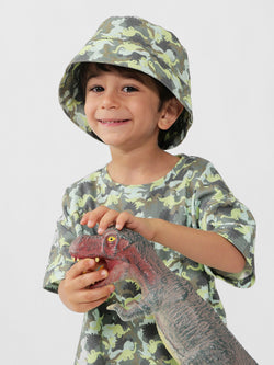 Kids Bucket Hat Dino Camo