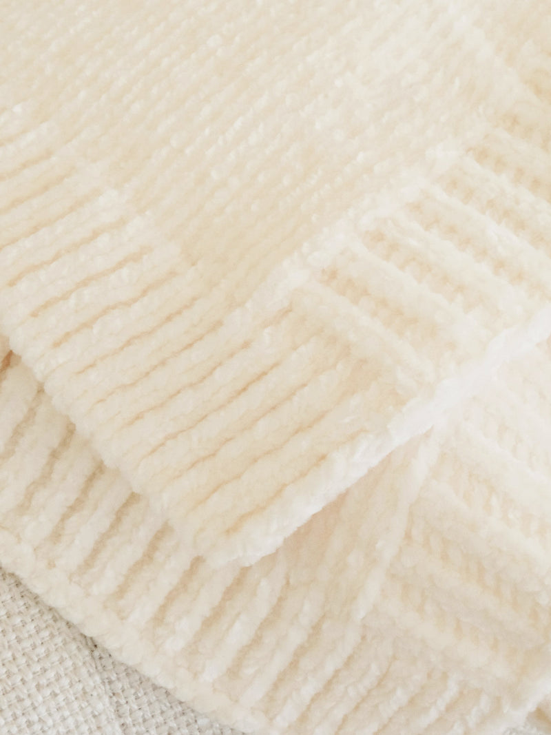Chenille Blanket Buttercream - Buttercream / O/S -