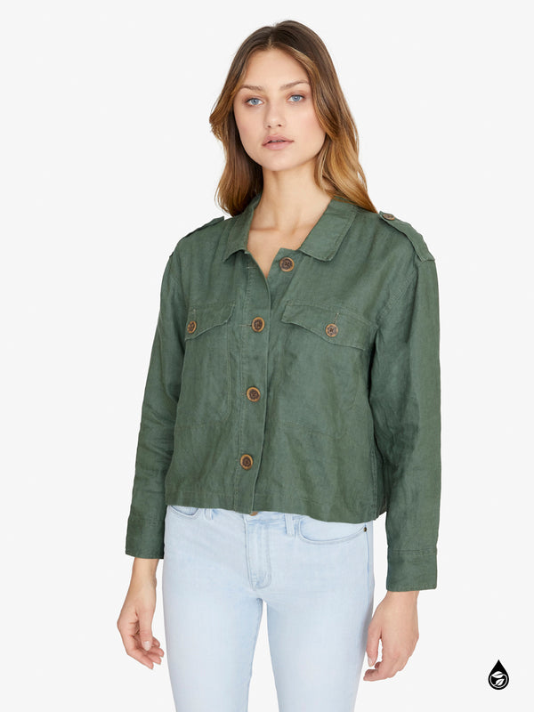 With Honor Corp Surplus Jacket Peace Green
