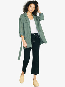 Safe Travels Belted Surplus Jacket Washed Peace Green