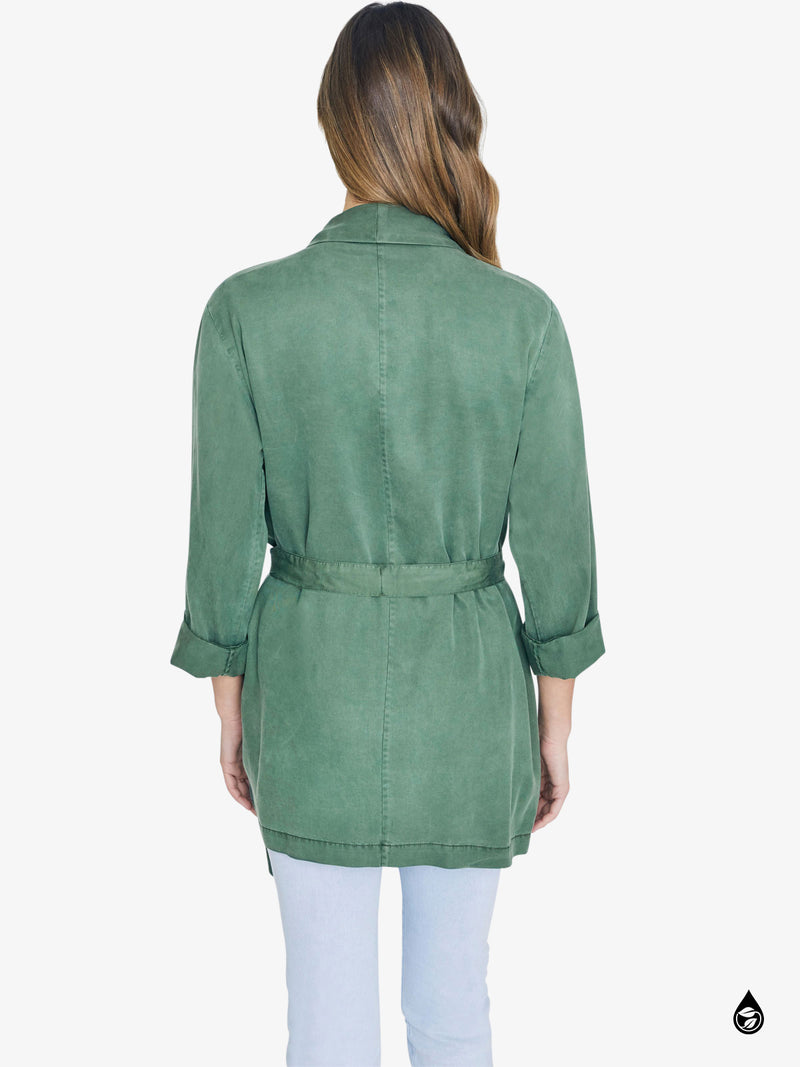 On The Go Belted Jacket Peace Green