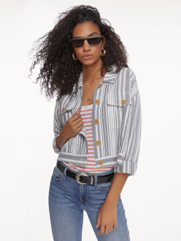 Skyward Trucker Jacket Salton Stripe