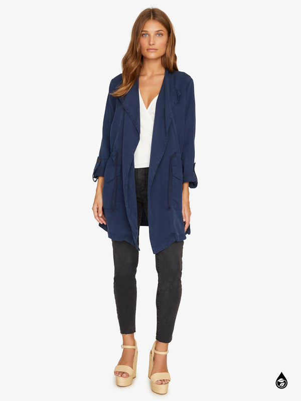 Cloudscape Draped Jacket Black Iris
