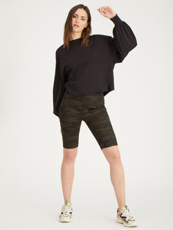 Runway Biker Short Forest Camo