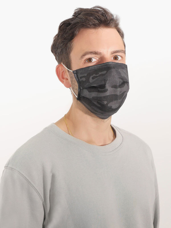 3 Pack Black Camo PPE Masks