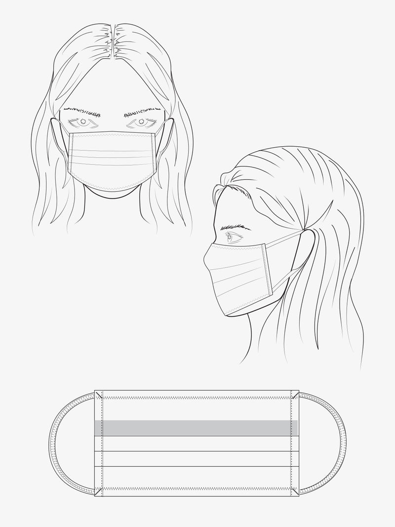 5 Pack Fashion PPE Masks