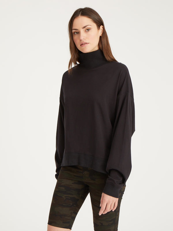 Easy Winter Mock Black - Black / XXS - Knit Top