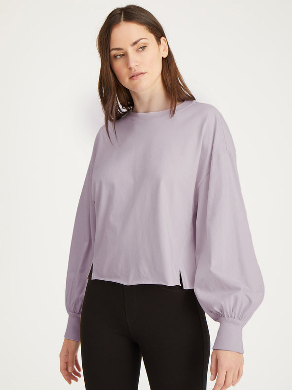 Cropped Long Sleeve Jersey Lavender Field - Lavender Field /