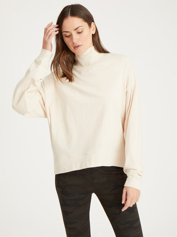 Easy Winter Mock Bare - Knit Top