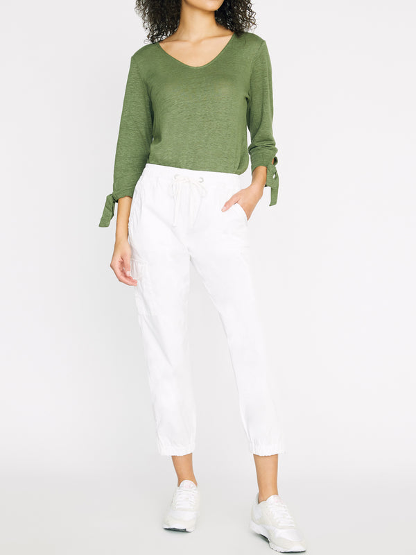 Pull On Trooper Pant Brite White