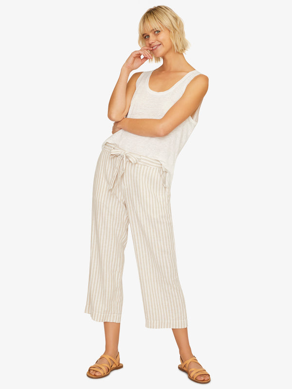 Sasha Stripe Crop Pant Sand Valley Stripe