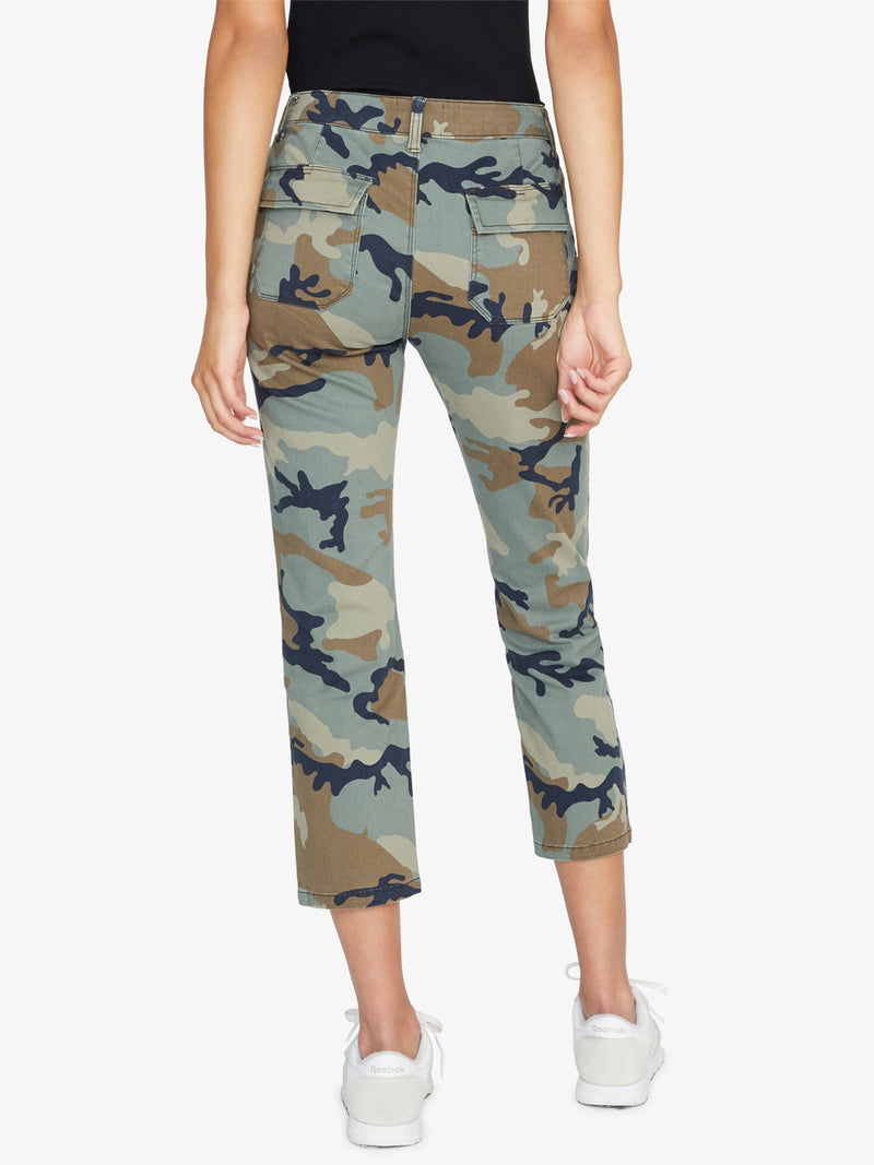 Peace Crop Chino Print Pant Love Camo