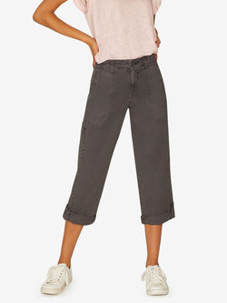 Explorer Patch Pocket Crop Pant Washed Faded Black