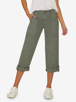 Explorer Patch Pocket Crop Pant Washed Peace Green